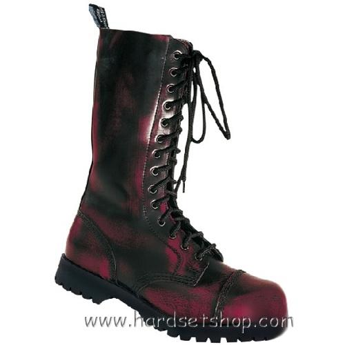 """Boots & Braces 14 dírek """"BORDO""""-0"""
