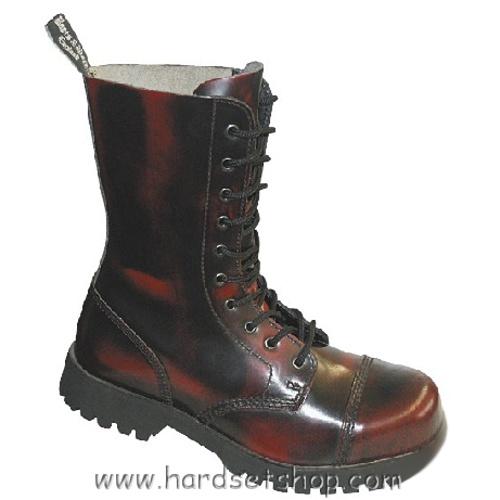 """Boots & Braces 10 dírkové """"BORDO""""-0"""