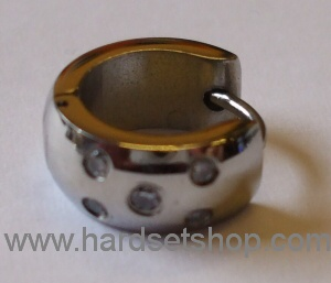 Chirurgická ocel - náušnice 5 kamínků-0
