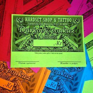 Dárkový poukaz na zboží či služby v Hardset shopu-0