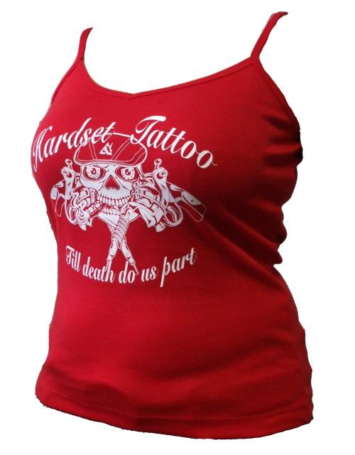 "Tílko dámské Hardset Tattoo ""Till Death Do Us Part"" RED-0"