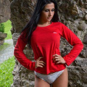 """Hardset dámské tričko s dlouhým rukávem """"RED""""-0"""