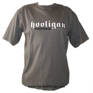 "Hooligan triko ""Logo-Grey""-0"