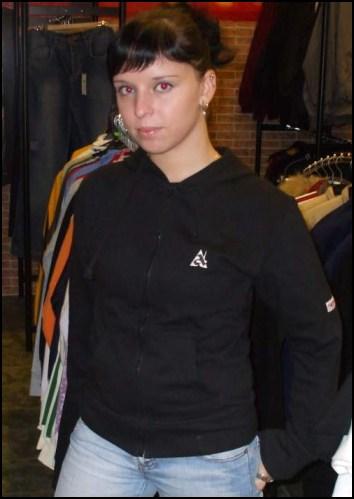 """Hardset dámská mikina na zip s kapucí """"BLACK""""-0"""