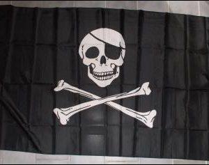 Vlajka - Pirátská-0