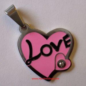 """Chirurgická ocel - přívěšek """"Love""""-0"""
