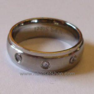 "Chirurgická ocel prsten ""pruh***""-0"