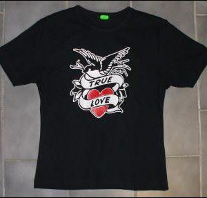 """Triko dámské True Love """"BLACK""""-0"""