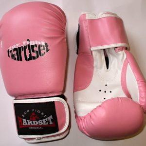 """Boxerské rukavice Hardset polokožené """"PINK""""-0"""