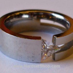 """Chirurgická ocel prsten """"troj*""""-0"""