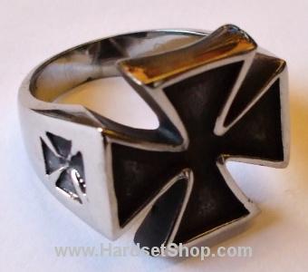 """Chirurgická ocel prsten """"Warrior Cross""""-0"""