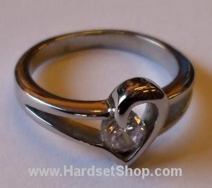 "Chirurgická ocel prsten ""HCK""-0"
