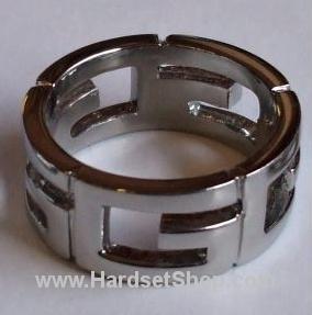 """Chirurgická ocel prsten """"Splet""""-0"""