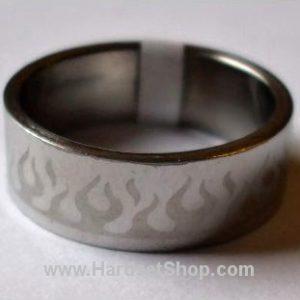 """Chirurgická ocel prsten """"Plameny""""-0"""