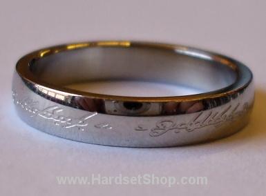 """Chirurgická ocel prsten """"Pán prstenů""""-0"""