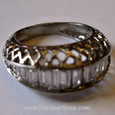 "Chirurgická ocel prsten ""Queen""-0"