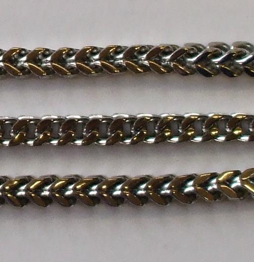 "Sada řetěz + náramek z chirurgické oceli ""HRNL""-0"