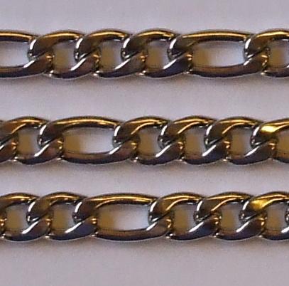 "Sada řetěz + náramek z chirurgické oceli ""FGR2""-0"