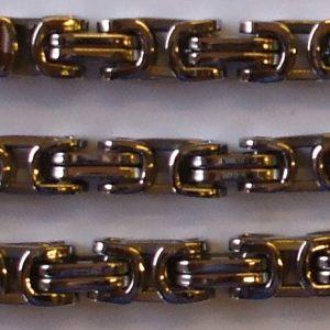 """Sada řetěz + náramek z chirurgické oceli """"KING""""-0"""