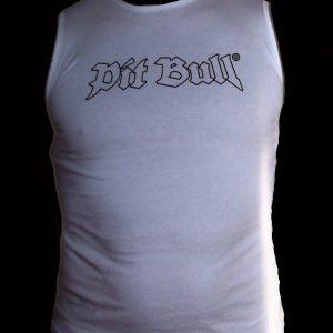 "Pit Bull triko bez rukávu ""White""-0"