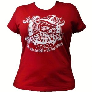 """Dámské triko Hardset Tattoo """"Co na srdci - to na kůži!"""" RED-0"""