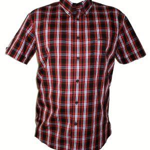 """Hardset košile """"Bordo-Black-Caro""""-0"""