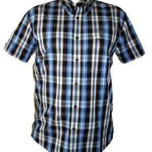 "Hardset košile ""Navy-Black-Caro""-0"
