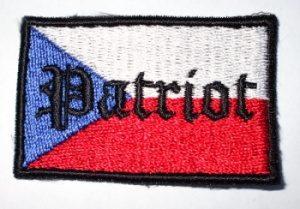 """Nášivka """"Patriot Czech Flag""""-0"""