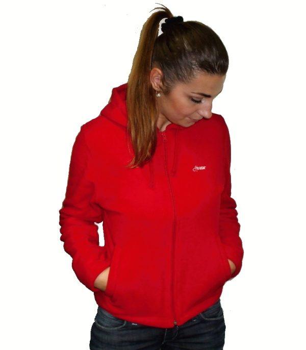 """Hardset fleece mikina dámská """"RED""""-0"""