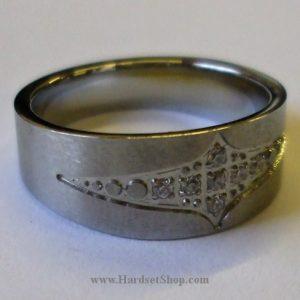 """Chirurgická ocel prsten """"KMHD""""-0"""