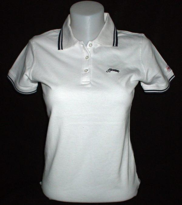 """Hardset dámská polokošile """"White + Black stripes""""-0"""