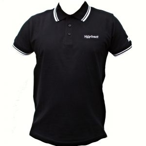 "Hardset Polokošile ""Black with white stripes""-0"