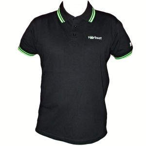 "Hardset Polokošile ""Black/green-stripes"" -0"