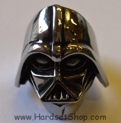"""Chirurgická ocel prsten """"Darth Vader""""-0"""