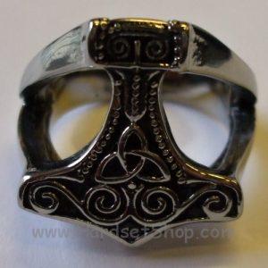 """Chirurgická ocel prsten """"Thor Hammer""""-0"""