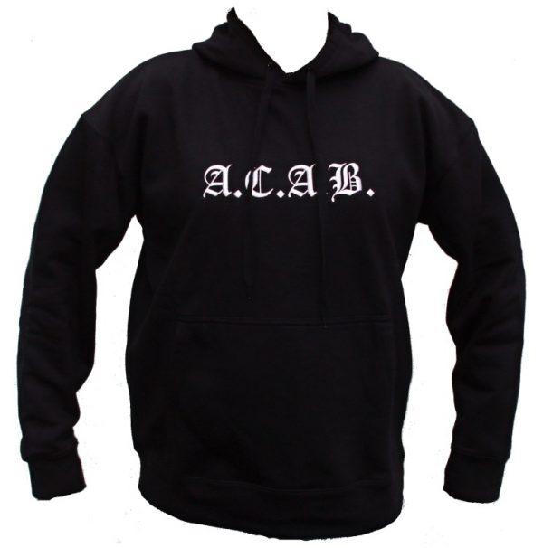 """A.C.A.B. mikina s kapucí """"BLACK""""-0"""