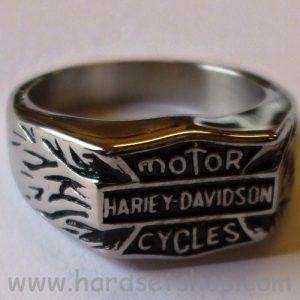 "Chirurgická ocel prsten ""Harley Davidson""-0"