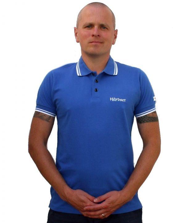 "Hardset Polokošile ""Blue with white stripes""-0"