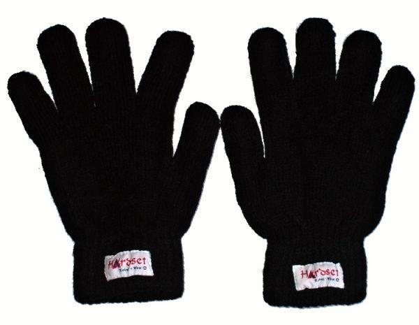 "Hardset rukavice pletené ""BLACK""-0"