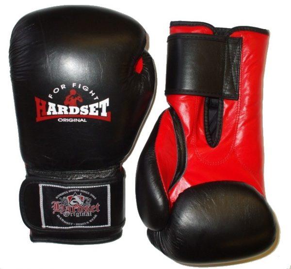 """Boxerské rukavice Hardset """"Kůže"""" 18oz-0"""