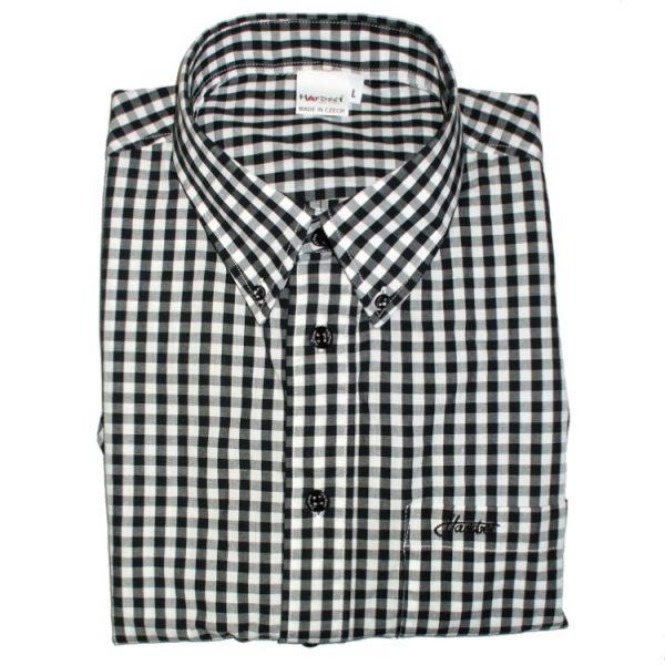 "Hardset košile ""Black/White-caro"" -0"