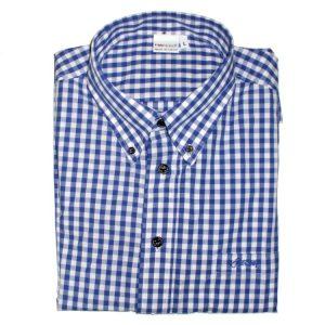 "Hardset košile ""Blue/White-caro"" -0"