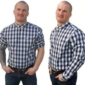 """Hardset košile """"Dřevorubec"""" Navy/White-0"""